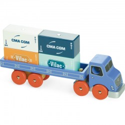 Camion porte-conteneurs...
