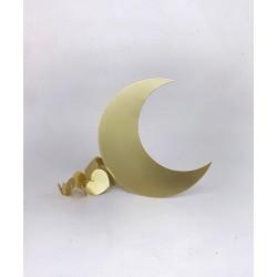 Lune en laiton DORE -...