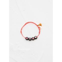 Bracelet perle émaillé noir...