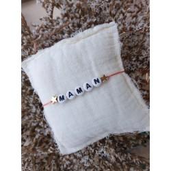 Bracelet MAMAN 2 étoiles -...