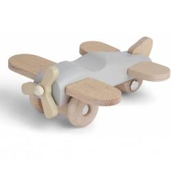 Avion en bois GRIS - KONGES...