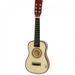 Guitare en bois naturel -...